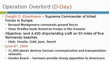 The Allies Win World War II