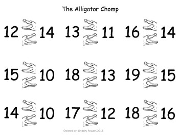 The Alligator Chomp - Greater Than/Less Than Activity