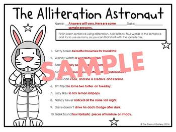 The Alliteration Astronaut