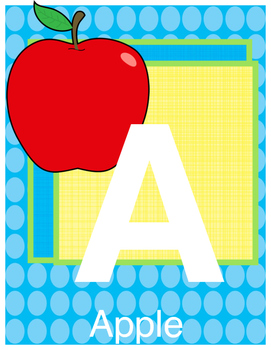Preschool-K ABC's W/ Pictures/Great for Circle Time and Centers