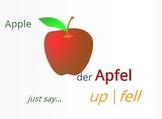 Cross Linguistic - Apfel/Apple
