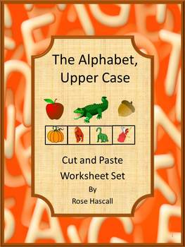 Special Education Alphabet Cut and Paste Uppercase Lowercase Worksheets ESL