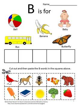 Alphabet Special  Education Cut and Paste Uppercase Lowercase Worksheets ESL