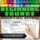 Beginning Sounds Activity The Alphabet House