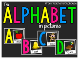 The Alphabet In Pictures (landscape) from Teacher's Clubhouse