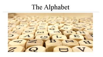 The Alphabet: Photos and Phonetics  for ESL