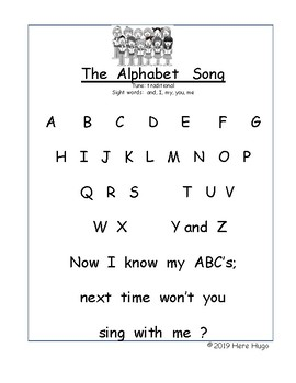 The Alphabet Song: Practice Reading While Singing