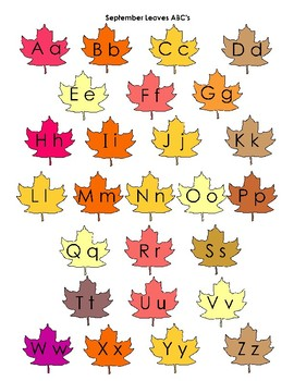 The Alphabet Throughout the Year