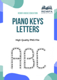 The Alphabet Uppercase letters - Piano Keys Style