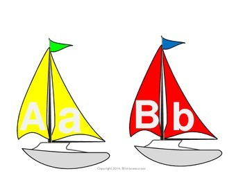 The Alphabet on Sailboats