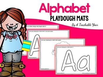 The Alphabet Playdough Mats