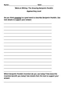 """The Amazing Benjamin Franklin"" Written Responses"