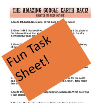 The Amazing Google Earth Race!