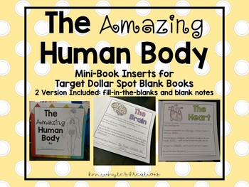 The Amazing Human Body Book - Perfect for Target Blank Books