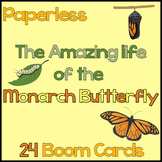 The Amazing Life of the Monarch Butterfly {Boom Cards} Dis