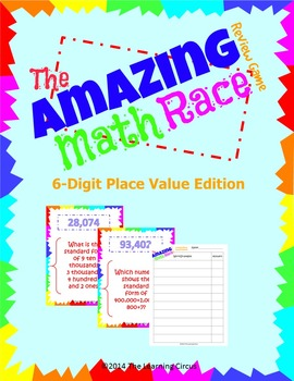 The Amazing Math Race Review Game - 6 Digit Place Value Edition