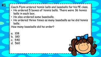Math Test Prep Game 4th Grade