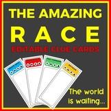 The Amazing Race Editable Clue Cards