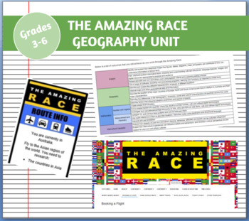 The Amazing Race - Geography, Literacy, Maths Unit