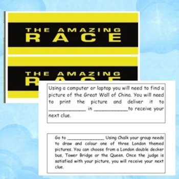 The Amazing Race Lesson Plan