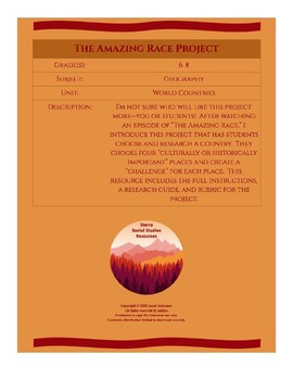 The Amazing Race Project