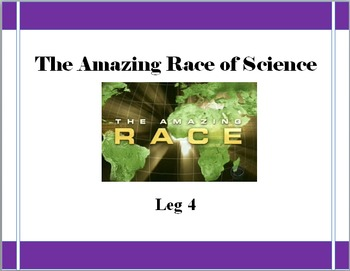 The Amazing Race of Science: End of the Year Science Game LEG 4