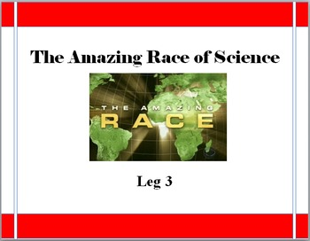 The Amazing Race of Science: End of the Year Science Game LEG 3