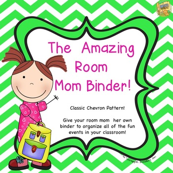 The Amazing Room Mom Binder - Chevron - Help her be organized for a GREAT YEAR!