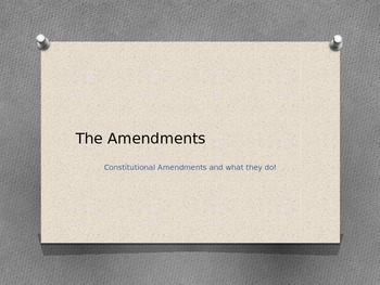 The Amendments to the U.S. Constitution