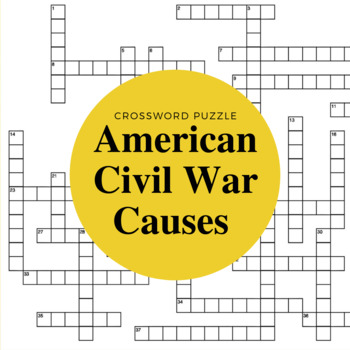 The United States from 1850 to 1860: A Union in Peril Crossword Puzzle