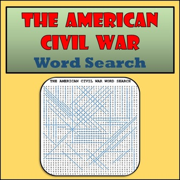 The American Civil War Word Search