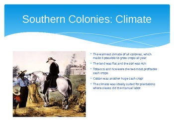 The American Colonies: New England, Middle, and Southern PowerPoint