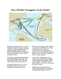 The American Colonies and Slavery: Triangle Trade Map and Reading