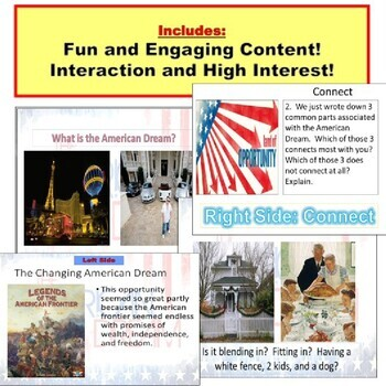 The American Dream : Common Core Notes, Responses, and More!
