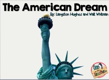 "The American Dream- Langston Hughes ""I Too Sing America"" a"