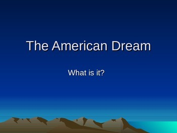 The American Dream - The Great Gatsby