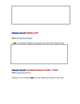 The American Dream Webquest