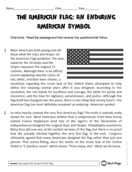 The American Flag: An Enduring American Symbol Test Prep Reading Passage