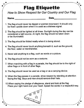The American Flag  Two Original Poems with Accompanying Activities
