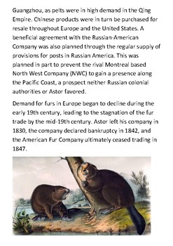 The American Fur Company Handout