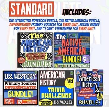 The American History Super Unit Bundle! 4 U.S. History Super Units & Final Exam!