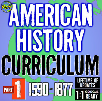 American History Complete Curriculum: OPTION 1! 13 Units & 5 Huge Supplements!