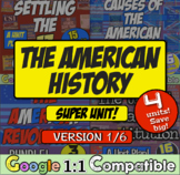 American History Super Unit Version 1/4: (1590-1788): 4 Unit Bundle! Save Big!