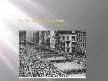 The American Homefront and World War I: Expanding or Restricting Democracy?
