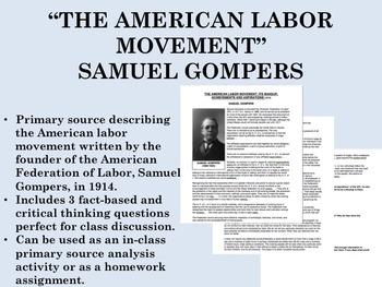 """The American Labor Movement"" - Samuel Gompers - USH/APUSH"