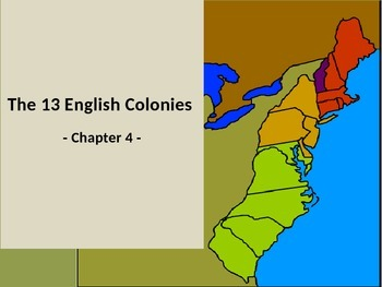 The 13 Colonies teaching PowerPoint [NO PREP]