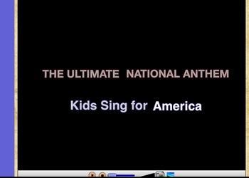 The National Anthem/Star Spangled Banner Flipchart