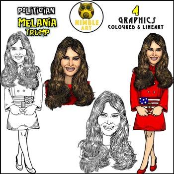 Politician Clipart - Melania Trump