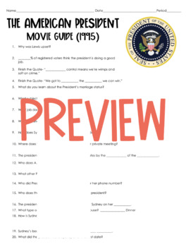 The American President Movie Guide (2018) SUB PLANS