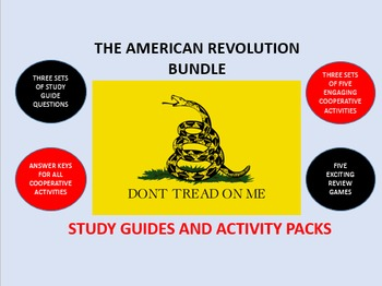 The American Revolution Bundle: Study Guides and Activity Packs
